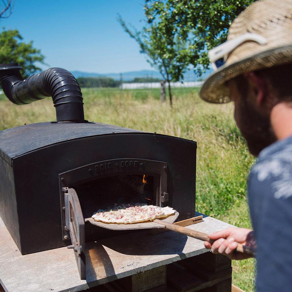 Dégustation de pizzas au feu de bois